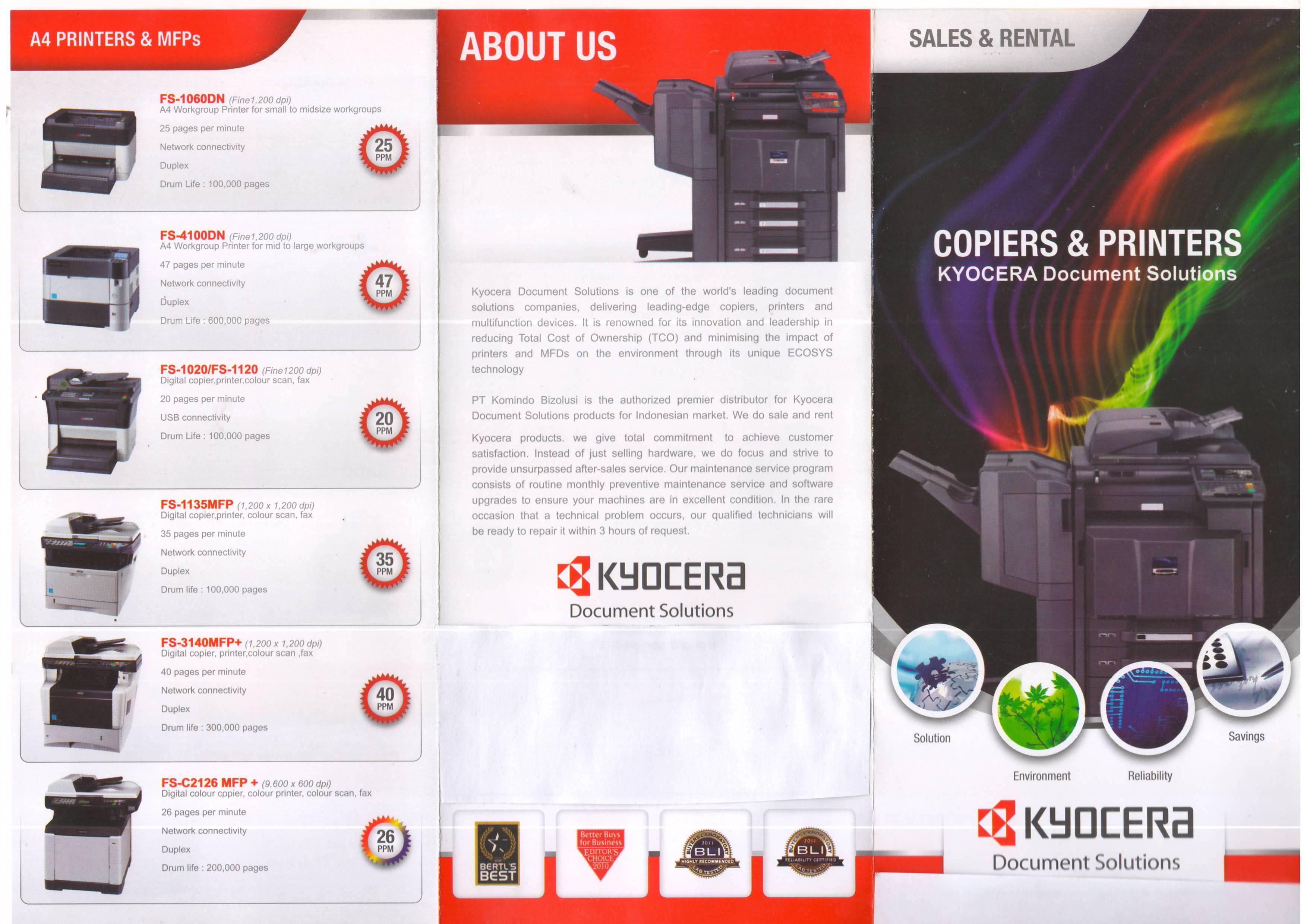 produk copy,print,scan kyocera